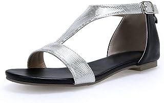 BalaMasa Womens ASL05884 Pu Block Heels