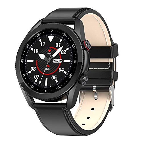 Relojes inteligentes de mujer s y hombres de 1 28 pulgadas pantalla táctil circular completa IP68 impermeable Bluetooth llamada (para iOS y Android)-G-D