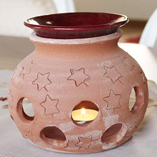 Diffusore olio essenziale da tavolo in Terracotta 100% made in Italy lavorato a mano al tornio (non a stampo) Porta candele interno casa