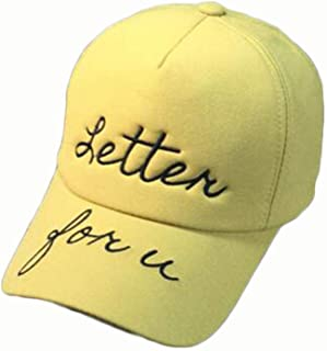 ERWEIRUILAN Summer Soft Top Baseball Cap Casual Wild Letter Embroidered Cap 4 (Color : Yellow)