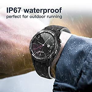 GPS Smart Watch for Android and iOS-Altimeter/Barometer /Compass, Bluetooth Smartwatch All-Day Heart Rate and Activity Fitness Tracker, Waterproof/Outdoor/Trail/Hiking Running Watch for Men/Women/kids