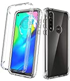 Dahkoiz Moto G Power Case, Clear Crystal TPU Bumper Cover with Reinforced Front