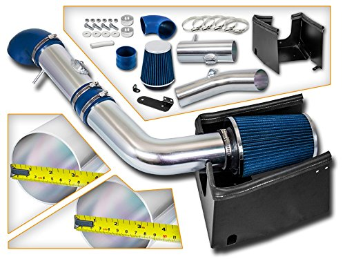 Cold Air Intake System with Heat Shield Kit + Filter Combo BLUE Compatible For 05-08 Ford F150 5.4L V8