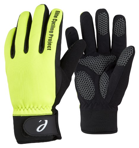 Elite Cycling Project Malmo Waterproof Winter Cycling Gloves Padded Palms Thinsulate Lined, XL, Hi Viz Green