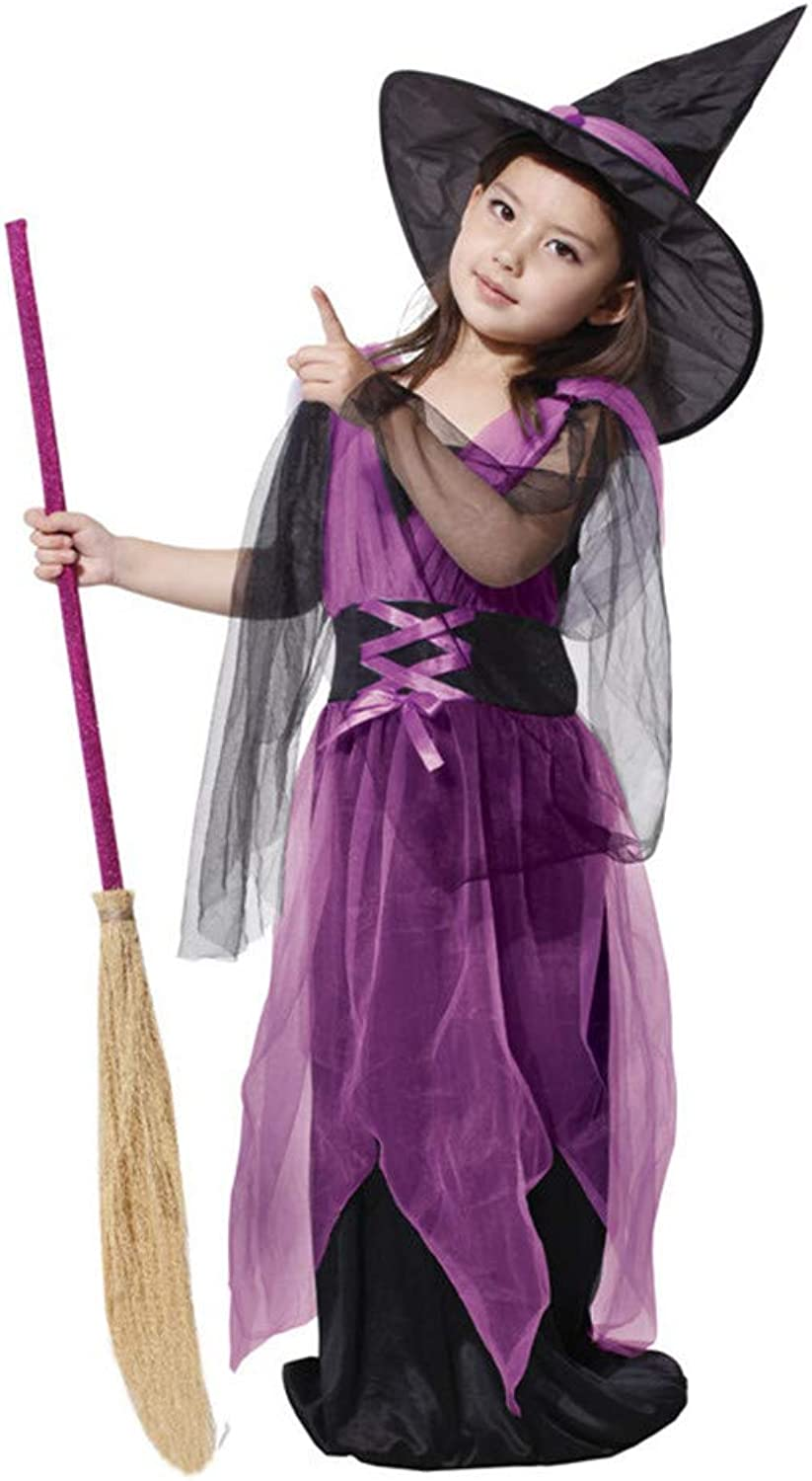 KTYX Halloween Fancy Purple Mesh Witch Witch Shows Clothes Halloween dresses (Size   L)