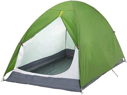 Zhanghongshop Tente de Camping en Plein air pour 2 Personnes, Double Loisir Anti-Pluie Set Rapide Facile à Transporter Trois Saisons Disponibles (Couleur   vert)