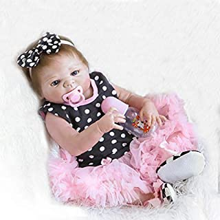 Funny House Full Vinyl Silicone Body 18 in 45cm Realistic Lifelike Reborn Baby Cute Girl Doll Newborn Girl Dolls Magnet Pacifier Xmas Gift