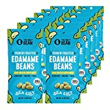 The Only Bean - Crunchy Roasted Edamame Beans (Sea Salt) - Keto Snacks (1g Net) - High Protein Healthy Snacks (14g Protein) - Low Carb & Calorie, Gluten-Free Snack, Vegan Keto Food - 1.5 oz (12 Pack)