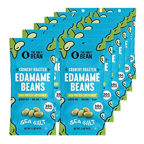 The Only Bean - Crunchy Roasted Edamame Beans (Sea Salt) -...