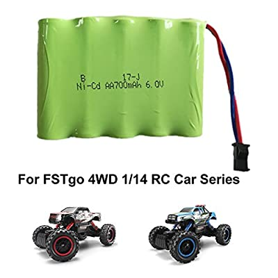 FSTgo 1/14 RC Crawler 4x4 Radio Controlled Off Road Cars for Adults 2.4GHz Electric Racing Buggy Truck with LED Headlights