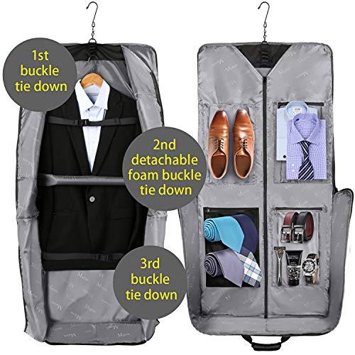 Large Suit Garment Bag Travel Bag with Pockets & Shoulder Strap. Garment bag with shoe compartment