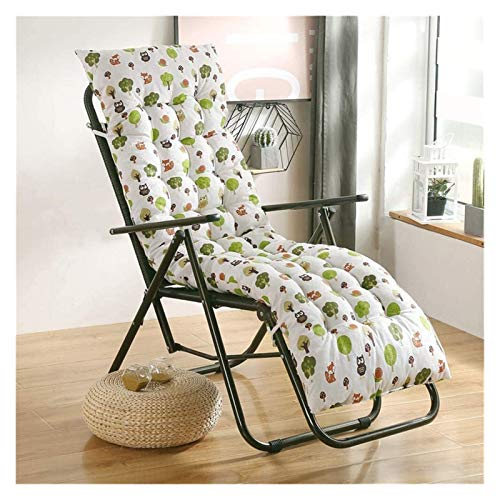 KEKEYANG Sun Lounger Garden Silla Trasera Alta Cojín Patio Reclinable Cojín Espesado Cojín con Respaldo Lavable Cojín de jardín (Color : A, Size : 48x122c)