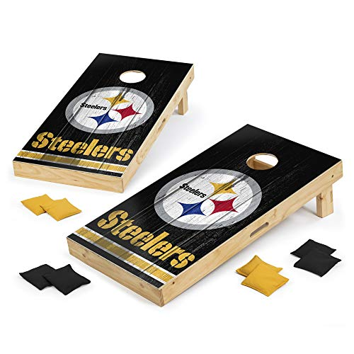 PROLINE NFL Pittsburgh Steelers 2'x4' Cornhole Board Set - Vintage Design