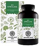 NATURE LOVE Bio Spirulina Presslinge. 100% reine Bio Spirulina Alge ohne Zusätze. 500 Tabletten. Hochdosiert mit 6.000mg Bio Spirulina je Tagesdosis. Vegan, laborgeprüft & hergestellt in Deutschland