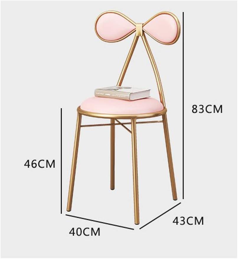 Magnifique Simple Chaise Bureau étudiant et Chaise de Maquillage Tabouret Retour à la Maison à Manger Chaise d'ordinateur Fort (Color : Blue) White