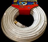 50 Feet RG-59U Coaxial Cable F Connectors Antenna TV