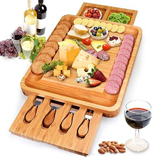 Yitriden Tabla de queso con cuchillo de...