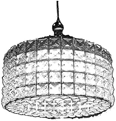 New Legend Lighting Modern LED Crystal Chandelier Chrome Finish Pendant Hanging Ceiling Lighting Fixture