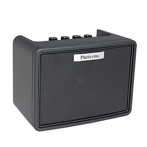 Flatsons Electric Guitar Mini Modeling Amp Portable Desktop Guitar Amplifier 3W with 2 Channels Clean Overdrive...
