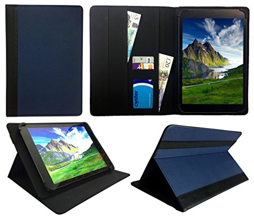 Sweet Tech Teclast X16 Plus 10.6 Inch Tablet Blue with Black Trim Universal Wallet Case Cover Folio (10-11 inch)
