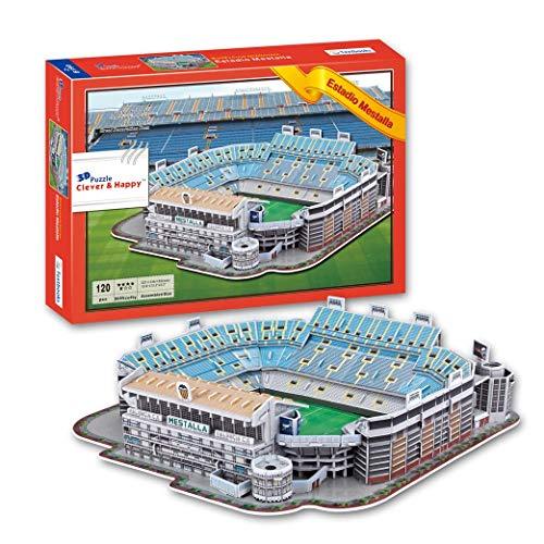 SDBRKYH Estadio de fútbol 3D Puzzle, Ventiladores Estadio de Mestalla Valencia Club de Fútbol Memorial Home Collection Modelo Regalos