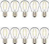 Lot de 10 Ampoules LED Culot Edison à Vis E27,2W équivaut Ampoule Halogène 20W, Blanc Chaud 2700K,AC 220V
