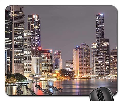 Mauspad Southbank Brisbane City Light Nachtlicht Office Mauspad Stabiler Gaming Mauspad Mit Motiv Mausmatte Für Voyager Büro Cadeau 25X30Cm