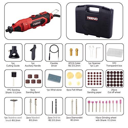 TEENO Outil Rotatif Electrique 135W &80 Accessoires