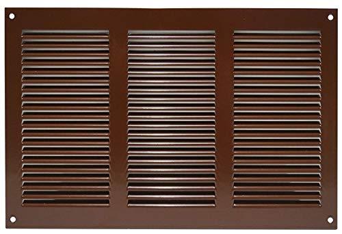 Haeusler-Shop - Rejilla de ventilación con protección contra insectos (300 x 200 mm, metal), color marrón