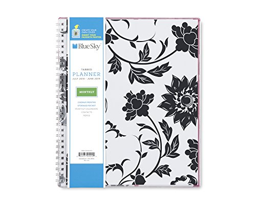 Blue Sky 2018-2019 Academic Year Monthly Planner, Flexible Cover, Twin-Wire Binding, 8