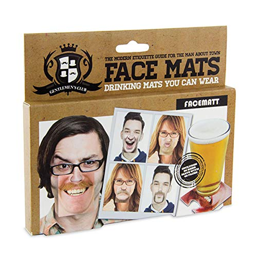 Paladone Gentlemans Club Face Drink Coasters - 20 Hilarious Double Sided Drink Coasters (40 Fun...