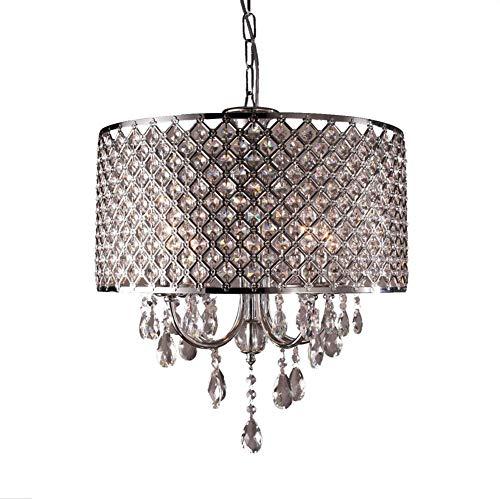 CYQAQ Crystal Chandelier Classic Vintage Lighting 4 Light Lámpara Colgante Lámpara de Techo 40cm para Dormitorio Sala de Estar