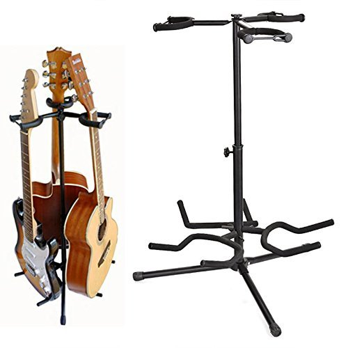 Coocheer Tripod Guitar Stand,Multi Guitar stands Adjustable suitable for Electric Bass Multiple guitar Stands,legs fold up/retract for compact portability (Tripod Guitar Stand)