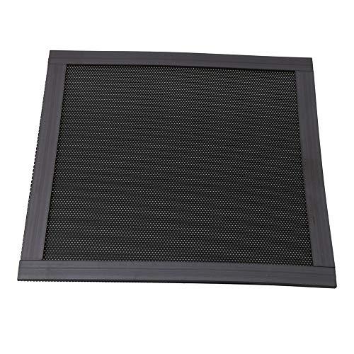 BQLZR Staubfilter aus Kunststoff, quadratisch, magnetisch, zur Staubabdichtung von Computergehäuselüftern im Haushalt, Schwarz schwarz Schwarz 14x14x0.05cm/5.51x5.51x0.019Inch(LxWxH)