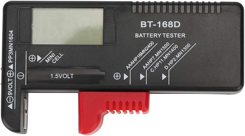 01 Universal Battery Life Level Testers, Battery Checker, Portable Mini Handheld Household for 1.5V 9V Battery Batteries Button Cell Testing Battery