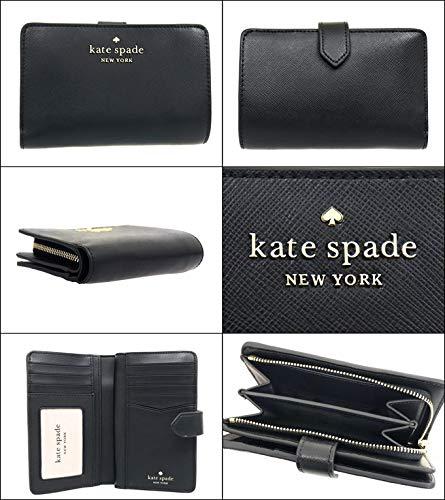 [ケイトスペード]katespade財布(二つ折り財布)WLR00128ブラックステイシーレザーミディアムコンパクトバイフォールドウォレットレディース[アウトレット品][ブランド][並行輸入品]