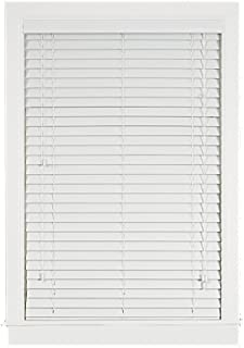 Achim Home Furnishings Madera Falsa 2-Inch Faux Wood Blind, 33-Inch by 64-Inch, White