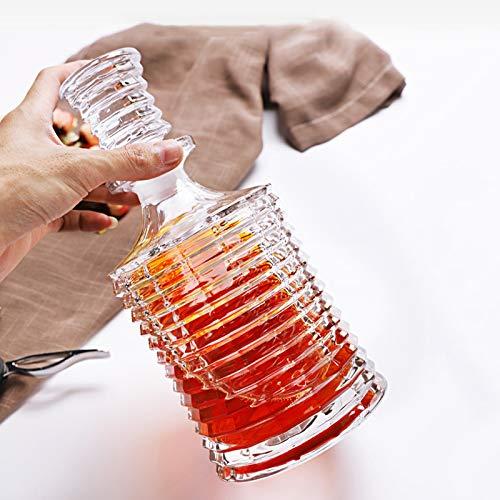 GAOXIAOMEI Decantador De Licor De Rayas Torre Decantador De Whisky con Tapón Adornado para Escocés, Bourbon O Whisky, Elegante Decoración De Oficina para Regalo para Hombres