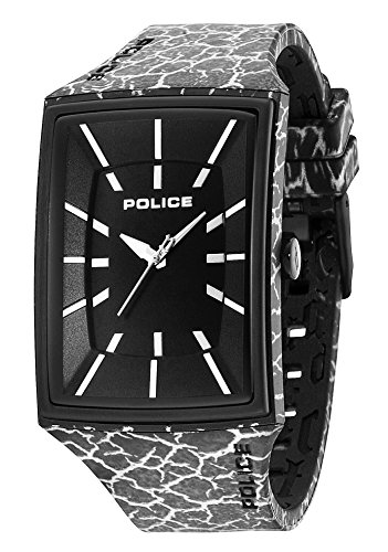 Police PL.13077MPB/02C - Reloj para Hombres, Correa de Silicona Color Negro