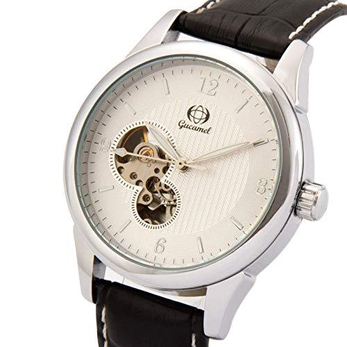 Reloj mecánico automático de 3 Manos para Hombre con regulador de Longitud Reloj automático mecánico-E