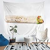 Yummy Pancakes - Manta de pared con diseño de tortitas sabrosas, para colgar en la pared para niños y niñas, decoración de dormitorio de estilo americano, extra grande, 152 x 224 cm
