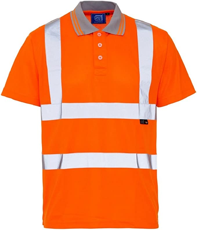 Industrial & Scientific Shirts Slim Fit-Yellow-2XL GOGO Mens Polo ...