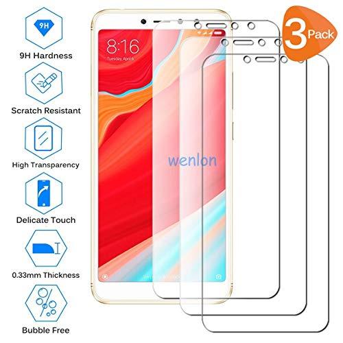 Wenlon [3 piese Film de sticlă temperată pentru Xiaomi Redmi S2, duritate a ecranului 9H HD, Film de protecție pentru telefon mobil, rezistent la zgârieturi