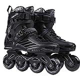 OUMADOU Skates de roulement de Hockey Skates Skates Skates Steakers Sneakers Rouleaux Femmes Hommes Roller Skates pour Adultes Skates Inline Professional (Color : Black, Shoe Size : 45)