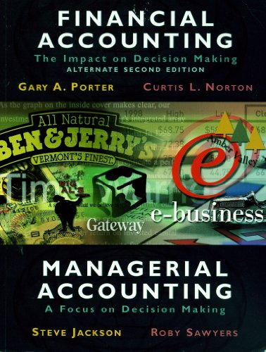 Financial Accounting- The Impact on Decision Making, Managerial Accounting, the Focus on Decision Making