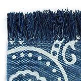 GJEFEGS vidaXL Kelim-Teppich Baumwolle 160x230 cm mit Muster Blau - 4