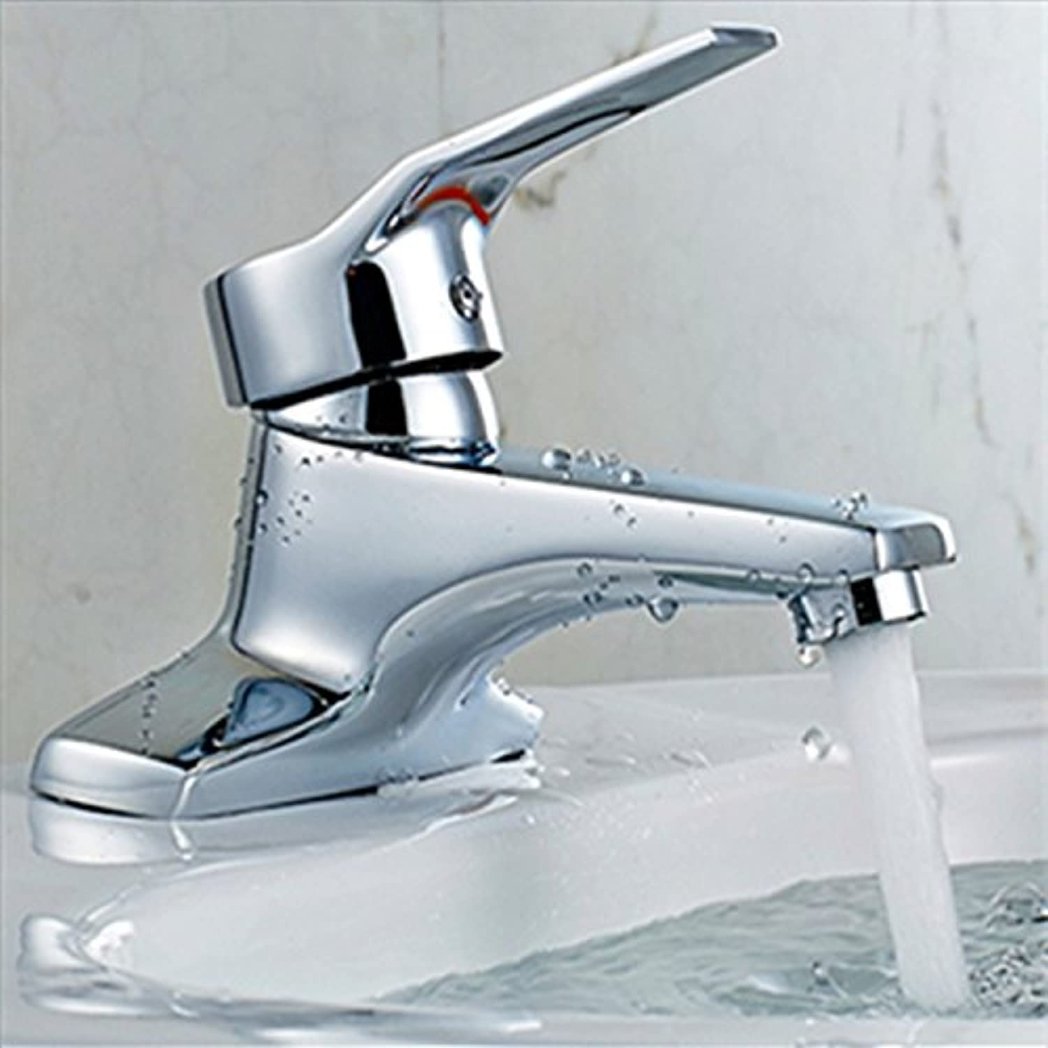 LHbox Basin Mixer Tap Bathroom Sink Faucet The brass faucet basin sinks hot and cold double-tap two holes in the faucet