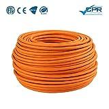 LW Electronic Highquality Verlegekabel Gigabit Netzwerkkabel S/FTP PIMF 1000 MHz Cat7 4x2xAWG23 LSZH Verkabelung LAN Kabel Datenkabel CAT7 Orange Cat7 100m
