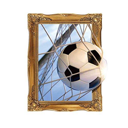 Guangcailun 45x60cm Abnehmbare 3D-Fußball und Netz-Muster Netto-Wandaufkleber Wandtattoo Umwelt Tattoo Environmentally Friendly-Wand-Aufkleber