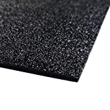 ABS Black Plastic Sheet 48' X 96' X 0.0625' (1/16') 4x8 ft, Black Haircell, for Automotive, VEX Robotics Teams, Hobby, DIY, Industrial. Easy to Cut, Bend, Mold.